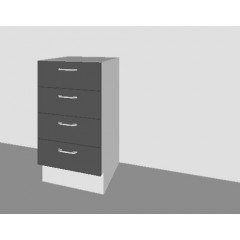 High Gloss - 4 Drawer Base Door