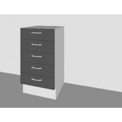 High Gloss - 5 Drawer Base Door
