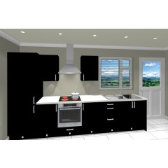 Single Galley Kitchen Package  - Classic Colour - Black Door