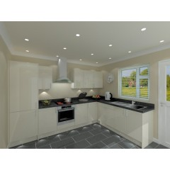 L Shaped Kitchen Package - Classic Colour -  Cream Door