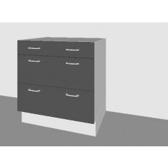 Contemporary - Pan Drawer Base Door