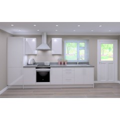 Single Galley Kitchen Package - Classic Colour -  White Door