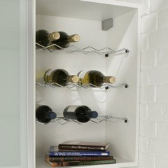 150mm Standard Wall Unit Wine Rack - Wirework