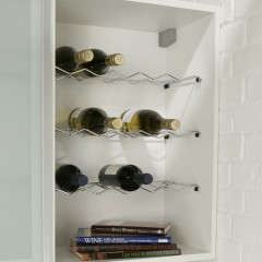 300mm Standard Height Wall Unit Wine Rack - Wirework