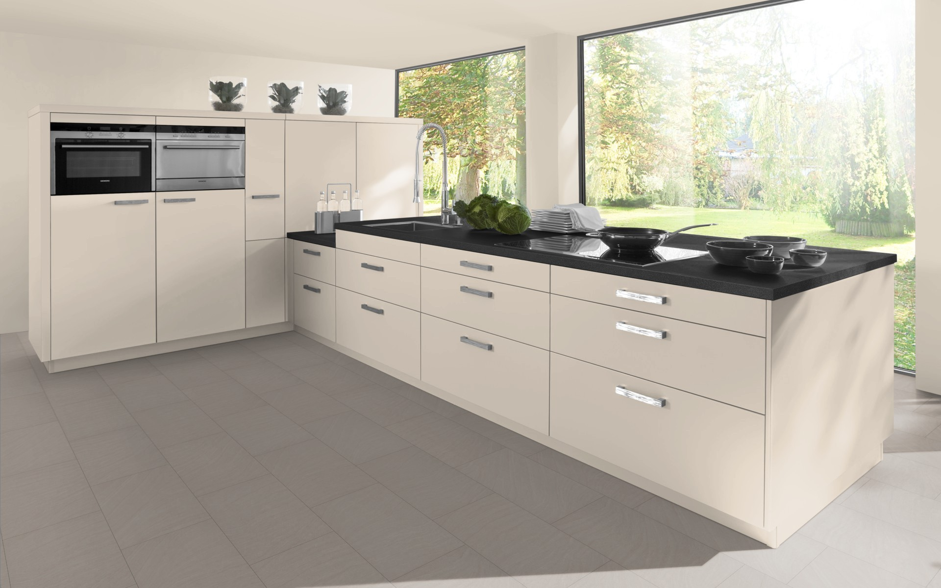 Single Tall Kitchen Cabinet high gloss - tall height - single oven & microwave housing doors