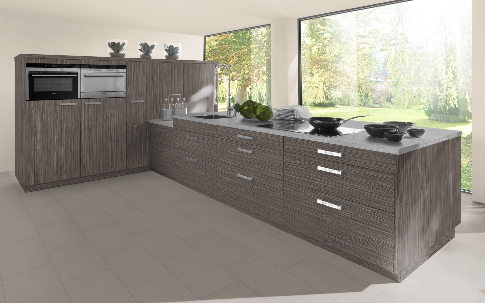 Textured Wood Tall Height Larder Broom Cupboard Doors Trade - Grey kitchen cupboard doors